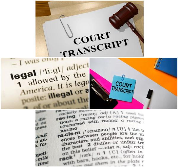 Legal Transcription Image