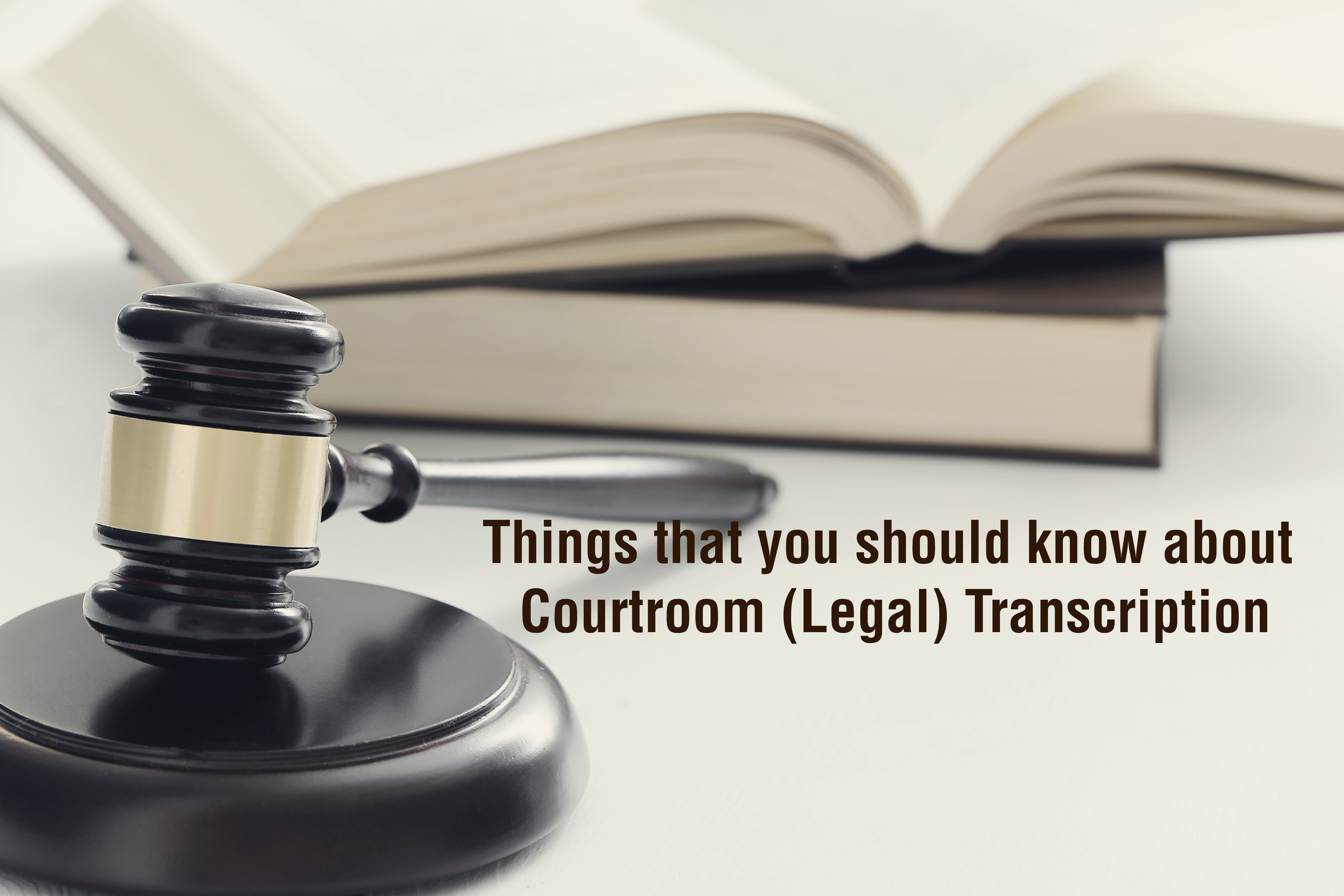 Things that you should know about Courtroom (Legal) Transcription using AI!